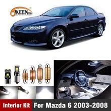 10 шт., подсветка для салона автомобиля Mazda 6 2003 2004 2005 2006 2007