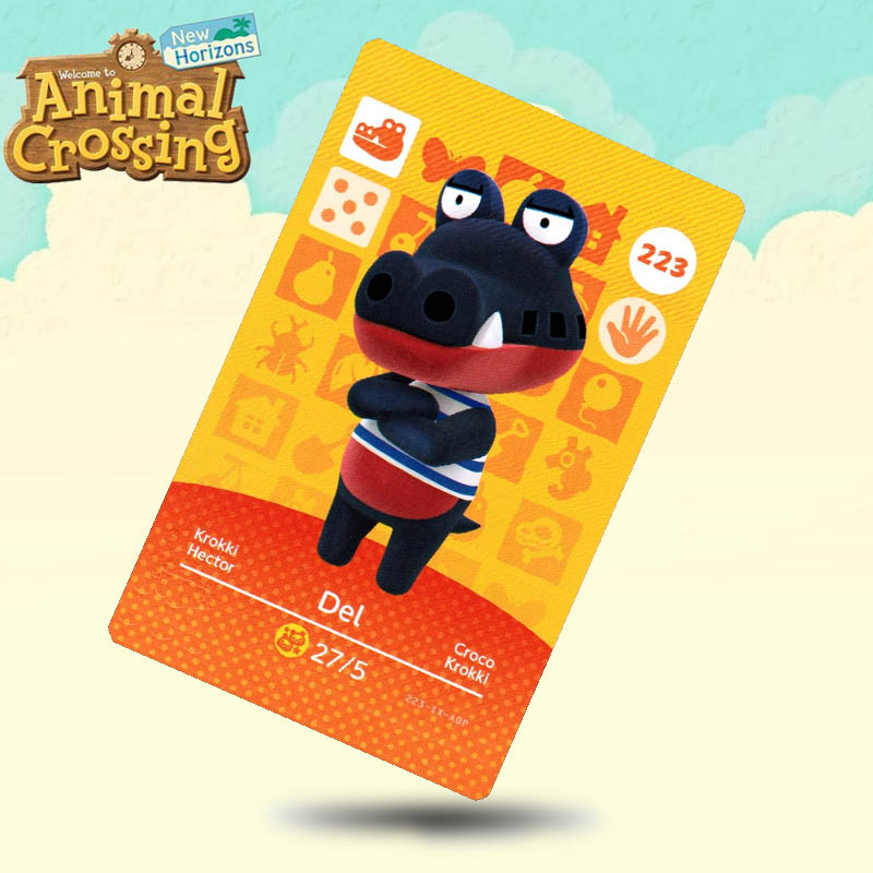 223 Del Animal Crossing Card Amiibo Cards Work For Switch NS 3DS Games