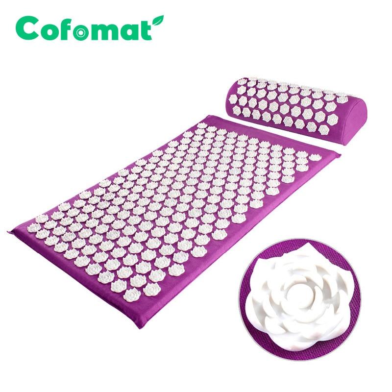 Массажный коврик (Cofomat/67x42 см/8 цветов) из нетканых материалов + подушка (37x14,5x10 см)