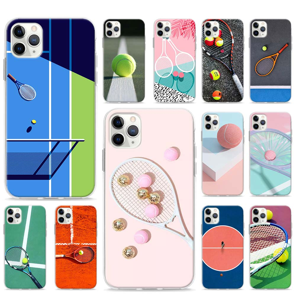 Sport Tennis Soft Phone <font><b>case</b></font> for <font><b>iPhone</b></font> 11 Pro Max XR <font><b>X</b></font> XS MAX 6 7 8 Plus SE TPU <font><b>Sillicone</b></font> Cover Shell image