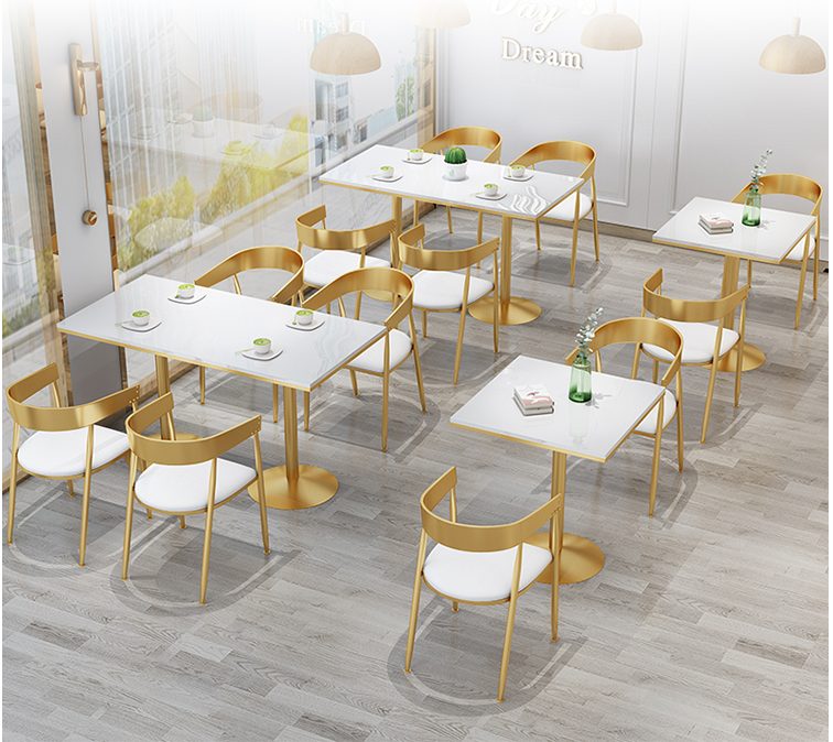 Tea Shop Tables And Chairs Simple And Fresh Ins Iron Net Red Coffee Shop Sweet Shop Restaurant Dining Tables And Chairs Combinat
