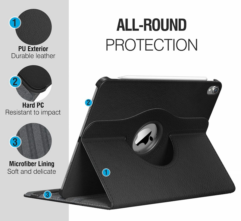 Case for Apple iPad pro 11 Case 2020 A2228 A2068 A2230 2nd 360 Degree Rotating Leather