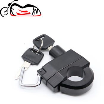 25mm Handlebar Universal Helmet Lock For HONDA VT 400 600 750 1100 1300 C/DC/RS SHADOW VTX 1800 1300 C/R/S/T/F/N/CX image