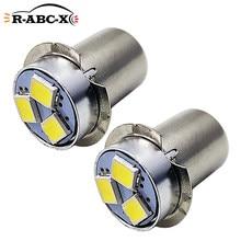 RUIANDSION – lampe de poche LED à économie d'énergie, 2 pièces, P13.5S, AC3V, 0.3W, blanc, 6000K, pour 2 cellules, remplacement Maglite, 150Lm