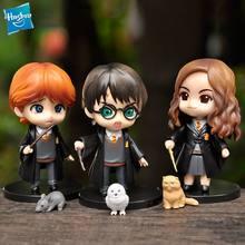 10cm 3 pçs/set q posket escola de magia modelo anime figura de ação brinquedos pvc collectible boneca filme crianças bonito bolo decoração