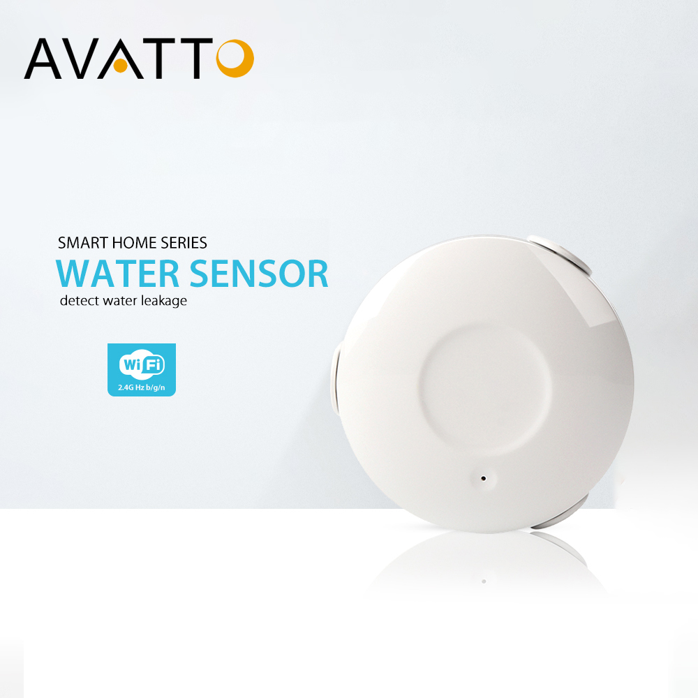 AVATTO Smart Wifi Water Sensor Alarm, Water Leakage Detector Tuya App Notification Alerts, Water Flood Leak Alarm Home Security