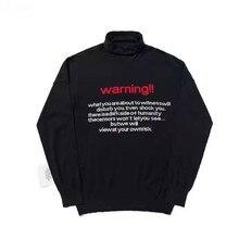 Men High Collar Sweatshirts Vetements Hoodies 2019 New Black Quality Wool  Hoodie Casual Streetwear Women DHL