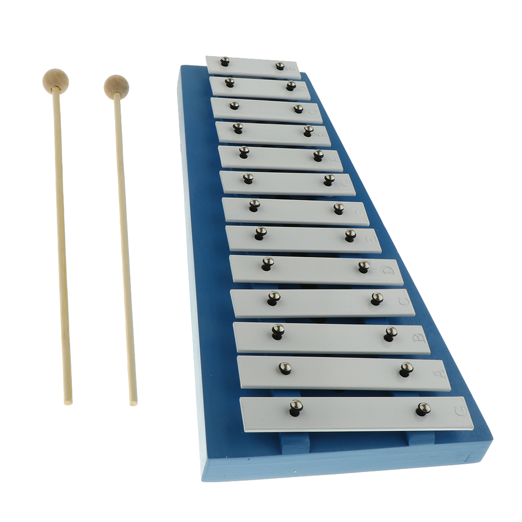 15 Note Xylophone With Mallets Glockenspiel Hand Knock Percussion Instrument