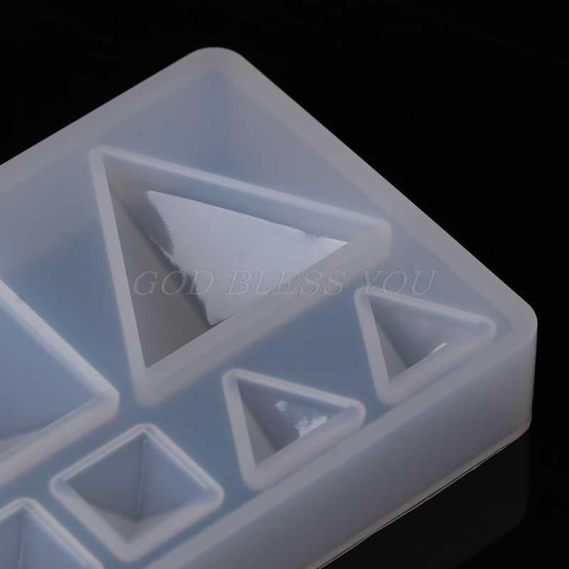 قالب من السيليكون DIY هندسية مثلث مرآة الحرفية مجوهرات جعل الديكور كعكة