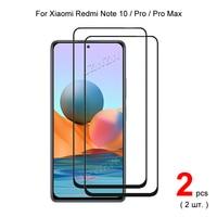 Para Xiaomi Redmi Nota 10 ( 5G / 4G) /Nota 10 Pro Max la cobertura completa de vidrio templado Protector de pantalla del teléfono película protectora