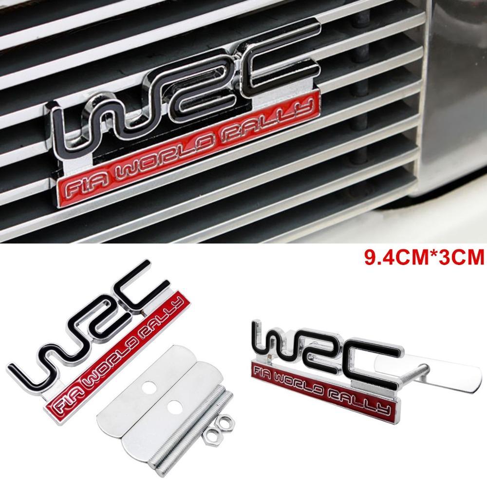 New Black WRC Logo 3D Metal Racing Rally Front Hood Grill Grille Badge Emblem