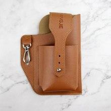 Simple Mens Waist Bag PU Leather Belt Bum Leg Hip Packs for Men Cell Phone Cigarette Lighter Box Case Outdoor Pouch Key Cases