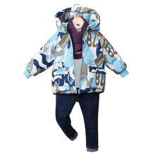 Fashion Boys Down Jacket Winter New Childrens Hooded Thickening Outerwear Kids Warm Coat Clothes