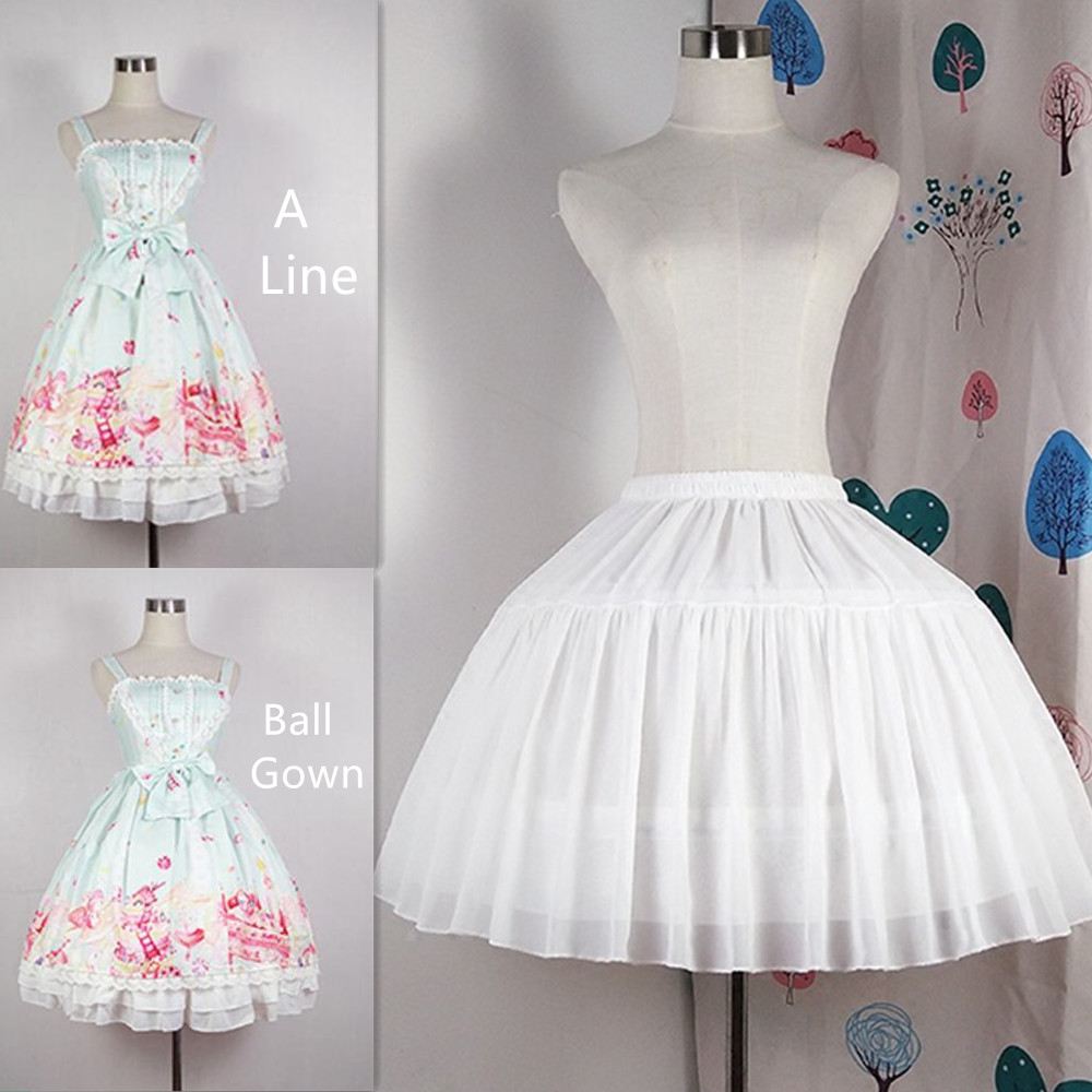 Adjustable A Line Ball Gown Crinoline Underskirt Cosplay Petticoat Short Women White Black Petticoat Wedding Party Accessories