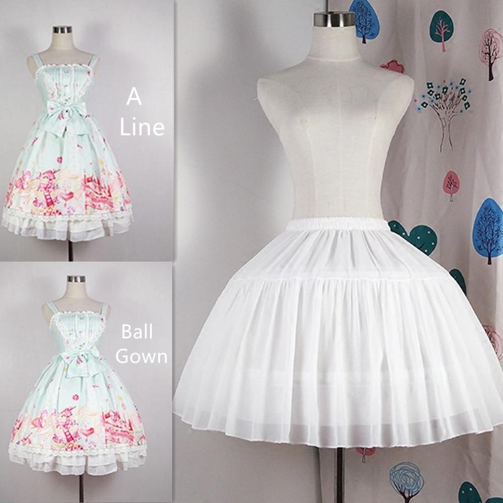 Adjustable A Line Ball Gown Crinoline Underskirt Cosplay Petticoat Short Women White Black Petticoat Wedding Party Accessories