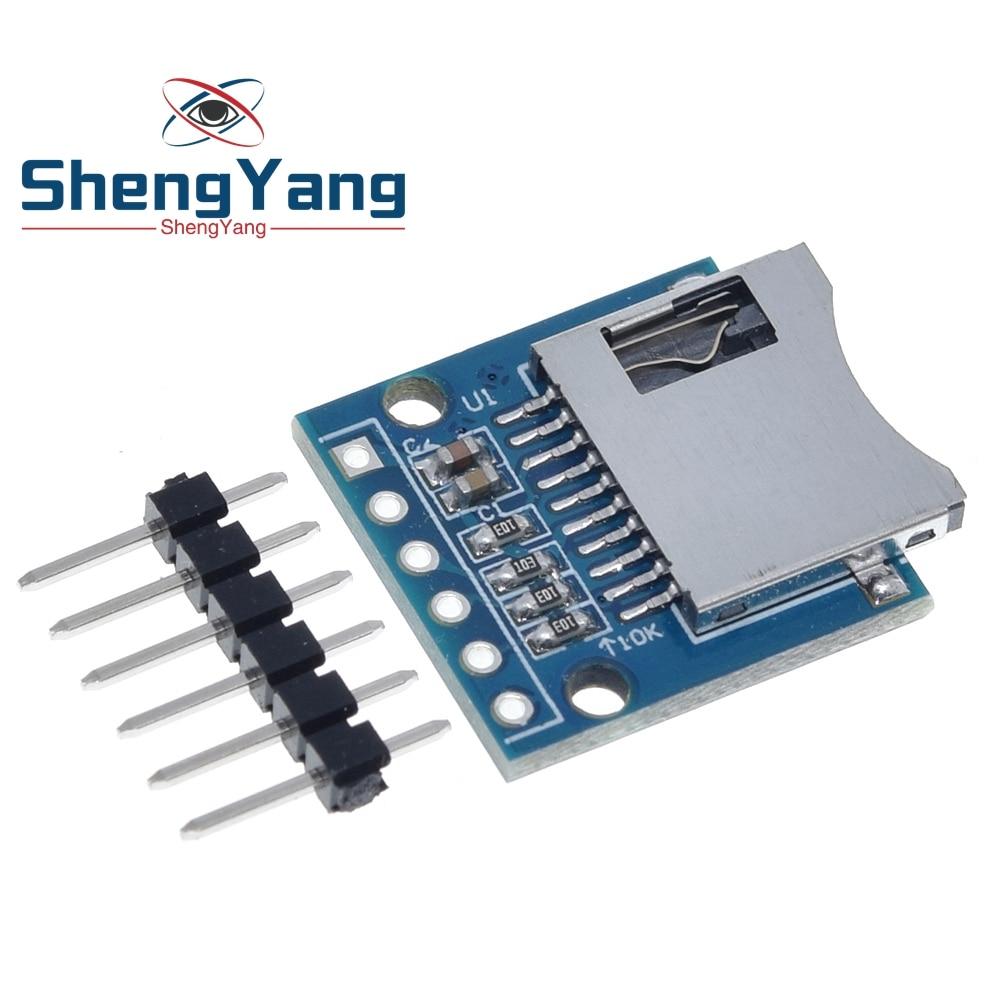 1 шт. ShengYang Micro SD Плата расширения для хранения мини Micro SD TF карта защитный модуль памяти с контактами для Arduino