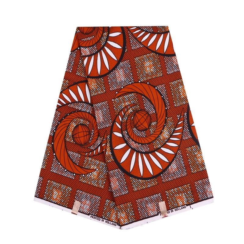 Wax New Fashion Design Fabric Brown Print African Pagnes Ankara Wax Printed Fabric