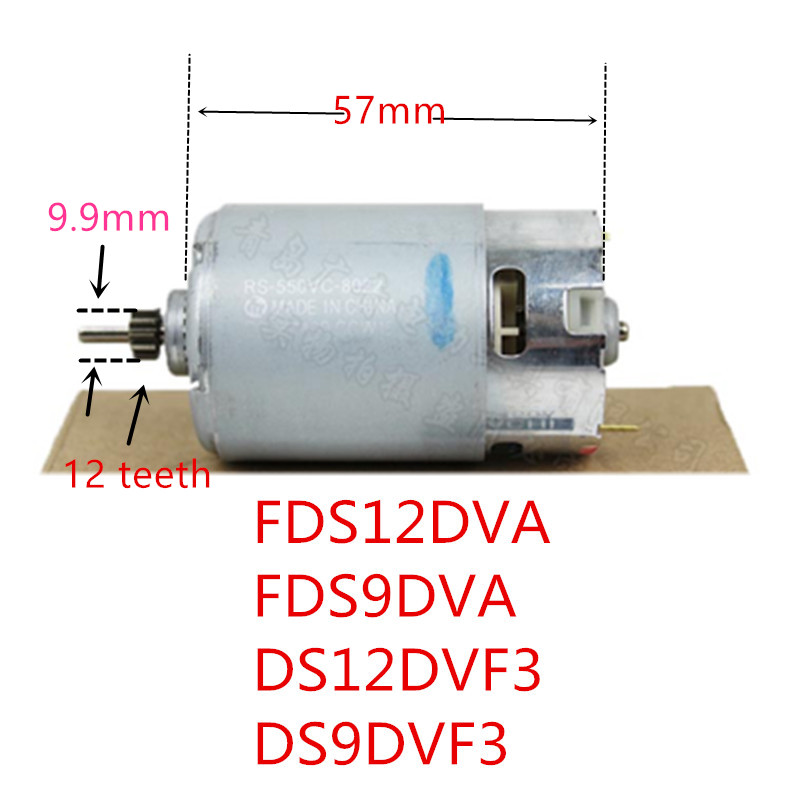 12 Teeth 12V 9.6V Motor Genuine Parts 318244 For HITACHI DS12DVF3 FDS12DVA FDS9DVA DS9DVF3 DS12DVFA RS-550VC-8022 Motor