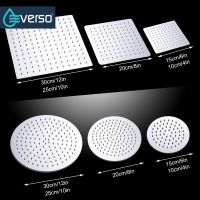 "EVERSO 4""6""8""10""12"" Bathroom Rain Shower Head Round & Square Rain Shower High Pressure Shower Head Handheld Shower Head Set"