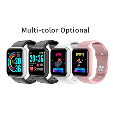 Smart Watch Men Bluetooth 4.0 Smart Sport Watch temperature ECG Heart Rate Monitor Y68 Smartwatch for Android iPhone xiaomi PK