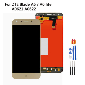 цена на LCD Display For ZTE Blade A6 A0620 A6 Lite A0621 A0622 LCD Display Touch Screen Digitizer Glass Panel Assembly + Free Tools