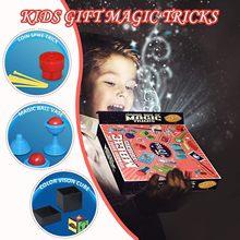 Sahne sihirli sahne seti büyük hediye kutusu yetişkin çocuk sihirli oyuncak hediye sihirli hileler oyuncak bebekler çocuklar için noel çocuk kız hediye
