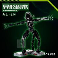 IN STOCK NEW 603PCS Genuine Movie Series The Alien Robot Set Educational Building Blocks Bricks DIY Assembly Robot M