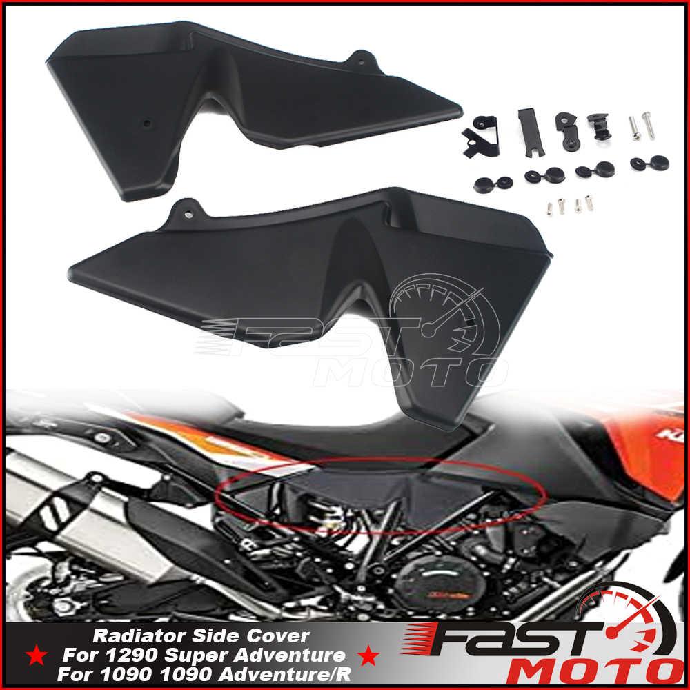 Крышка радиатора, боковая панель для 1050 1090 1190 Adventure /R 1290 Super Adventure T/S, черное покрытие для мотоцикла, радиаторы, 1 пара