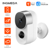 INQMEGA Tuya HD batteria telecamera Wifi telecamera 6700mAh ricaricabile a bassa potenza telecamera IP esterna sicurezza domestica telecamera Wifi PIR Motion