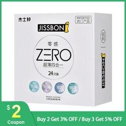 Original Jissbon ZERO 4 in 1 Ultra Thin Condom 24pcs Smooth Lubricated Pure Permium Condoms for Female Men
