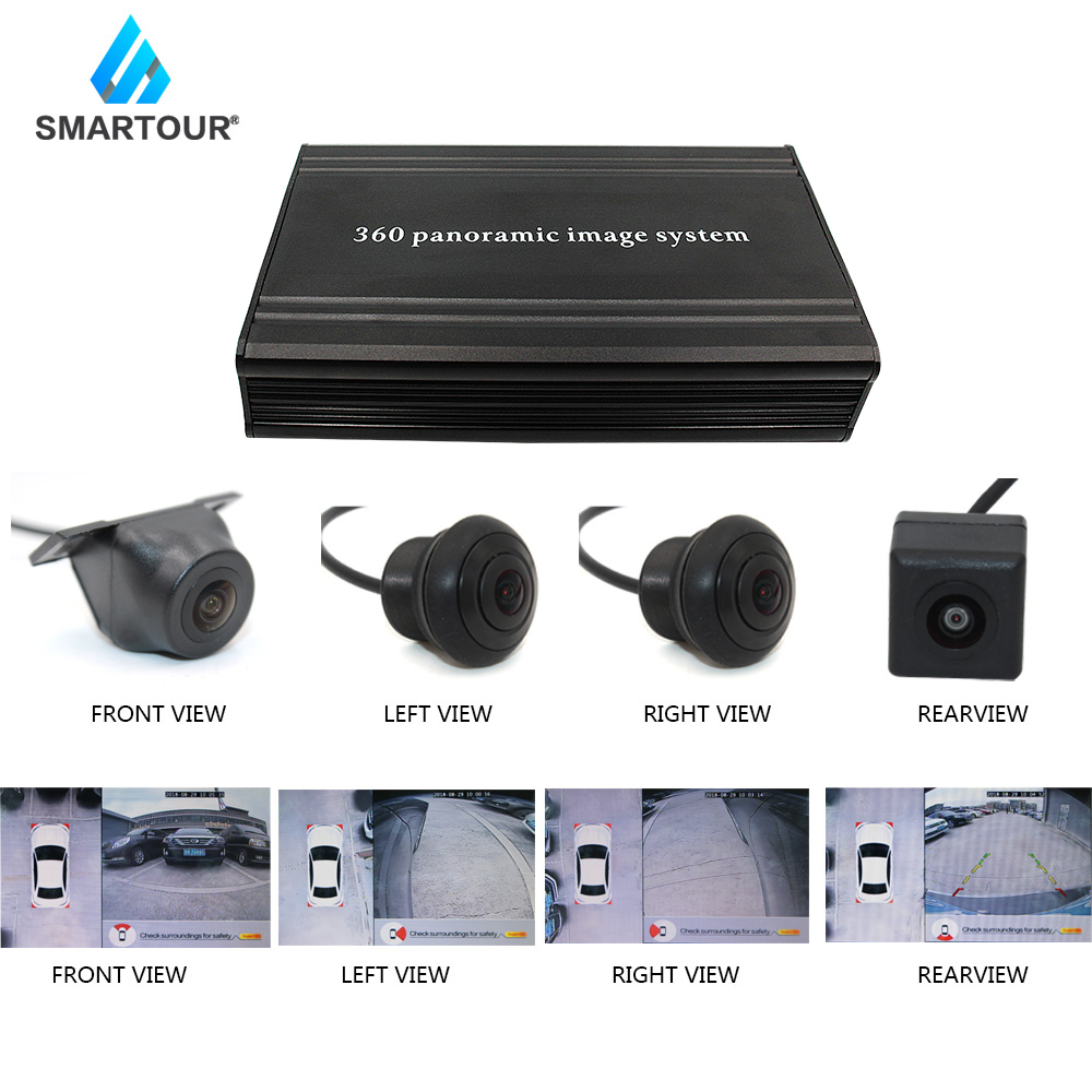 Smartour Car Security Recording 2D View 360 Degree Bird View Panorama System 2D View Surround View System Around Parking