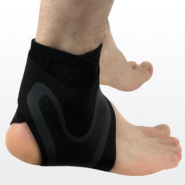 Soporte de tobillo 1 uds, protección de vendaje de pie de Ajuste libre de elasticidad, protector deportivo de prevención de esguince, banda de Fitness 8 4