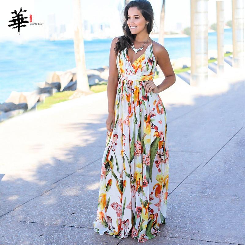 Multicolor Tropical Jungle Leaf Boho Long Dress Sling Cross Back Women V Neck 2020 Party Night Elegant Sexy Maxi Summer Dresses