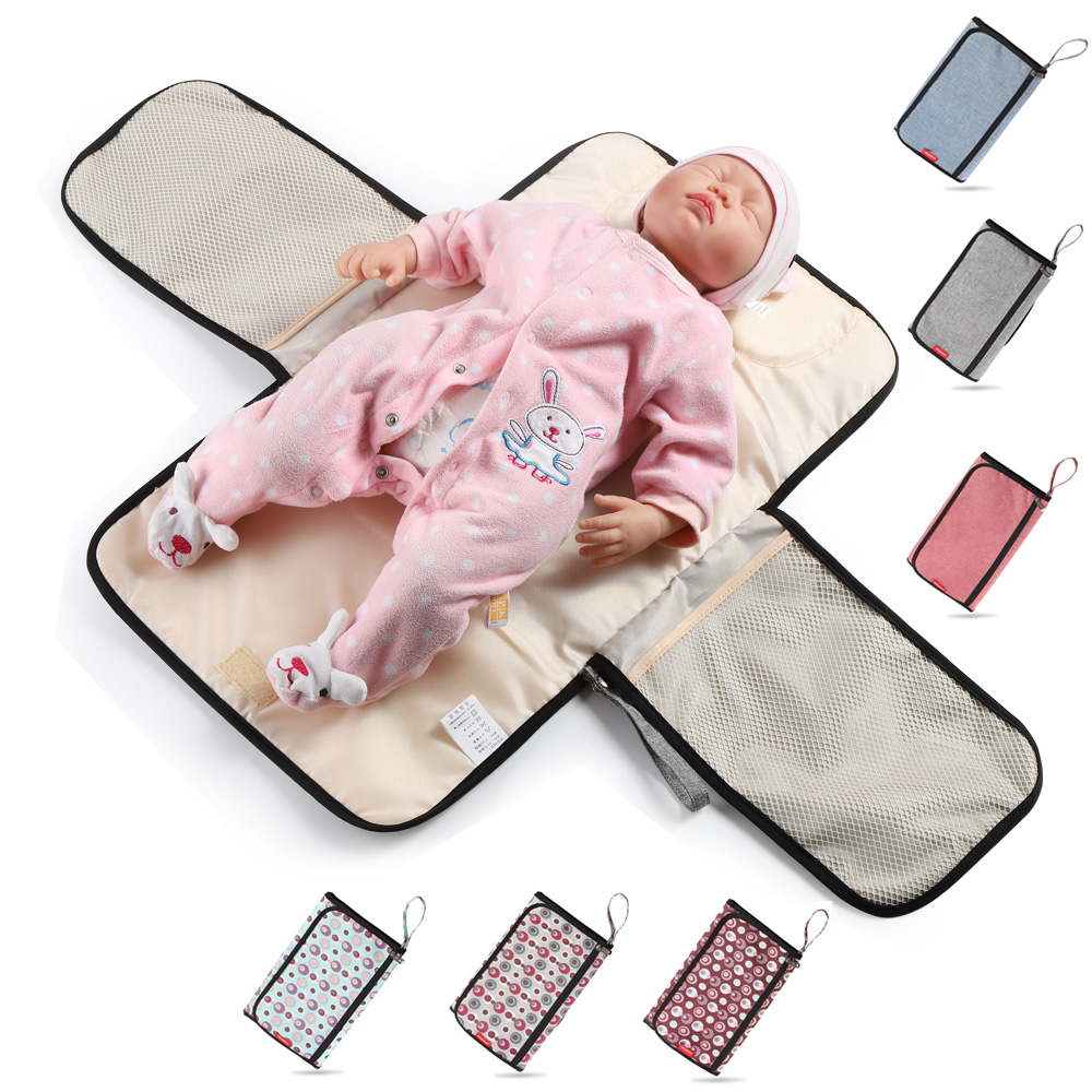 Waterproof Diaper Bag For Baby Care Changing Mat Baby Organizer Bags For Mom Portable Nappy Mommy Maternity Bag 1PC