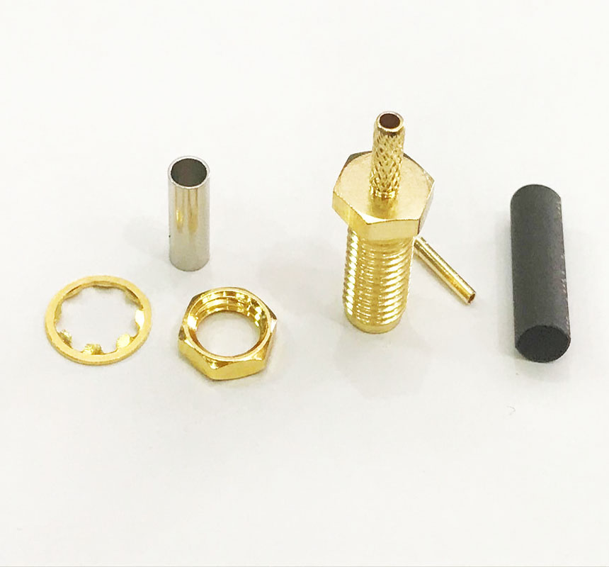10 шт. медный длинный SMA женский коаксиальный обжимной кабель для RG174 RG316 Кабельный разъем
