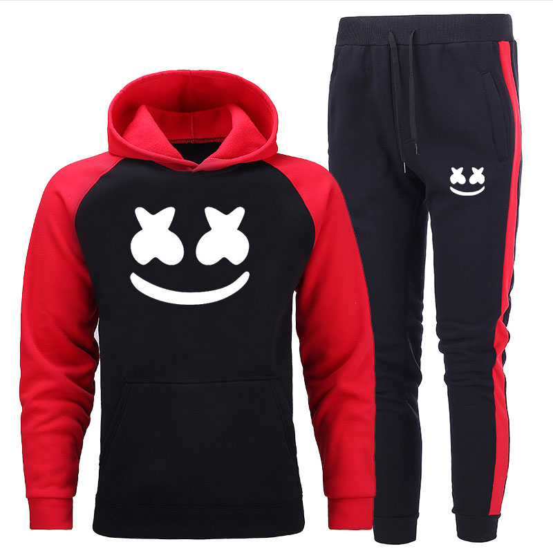 Brand Clothing Men's Suits Two-piece Casual Sports Printing Men's Sportswear Hoodies Pants Sports Spring And Autumn New Suits