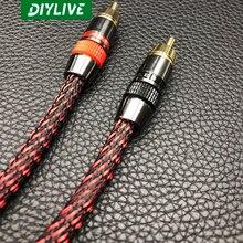 Аудио кабель DIYLIVE Hifi с американским монстром, аудиокабель с двойной головкой лотоса, RCA сигнальный кабель