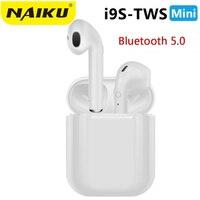 Qualidade superior naiku i9s tws mini sem fio bluetooth fone de ouvido estéreo fone de ouvido com caixa de carregamento mic para todo o telefone inteligente|Fones de ouvido| |  -