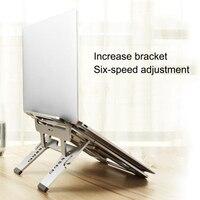 Laptop Stand Portable Folding Aluminum Notebook Laptop Cooling Holder Desktop Anti slip Stand Holder for MacBook Air Pro Stand