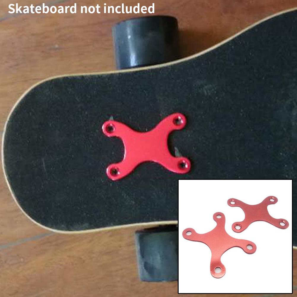 2 Pcs Parts Screw Pads Longboard Skateboard Durable Pads Protective Gaskets Accessories With Hole Hardware Deck Anti Sinking