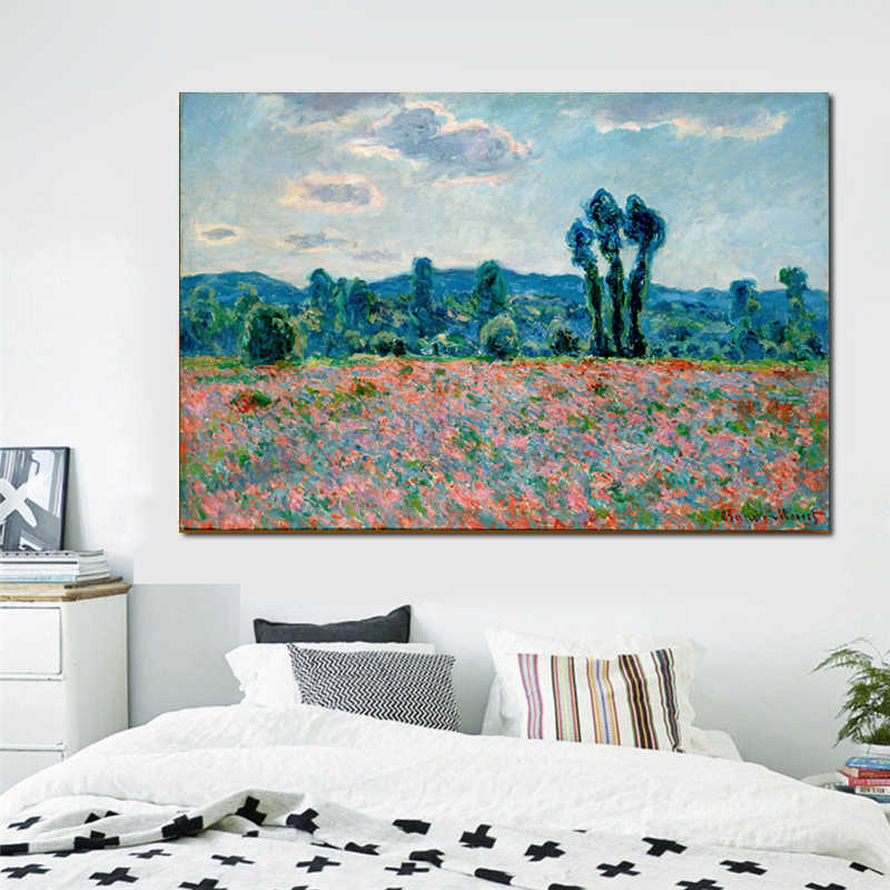Original landscape oil painting framesless canvas painting masterpiece reproduction Claude Monet canvas prints wall art poster