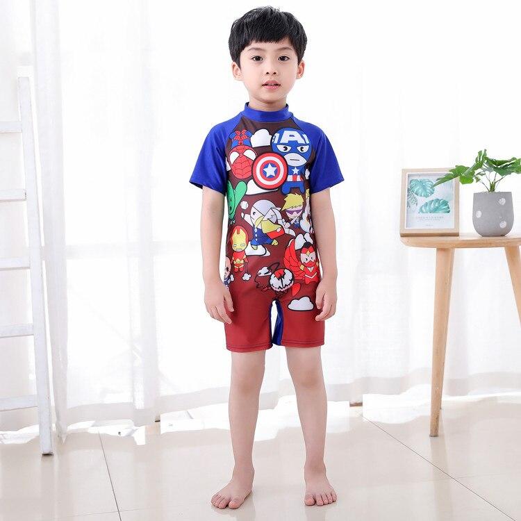 Cartoon KID'S Swimwear Cute BOY'S Tour Bathing Suit Medium-small Children One-piece Baby Quick-Dry Swimwear