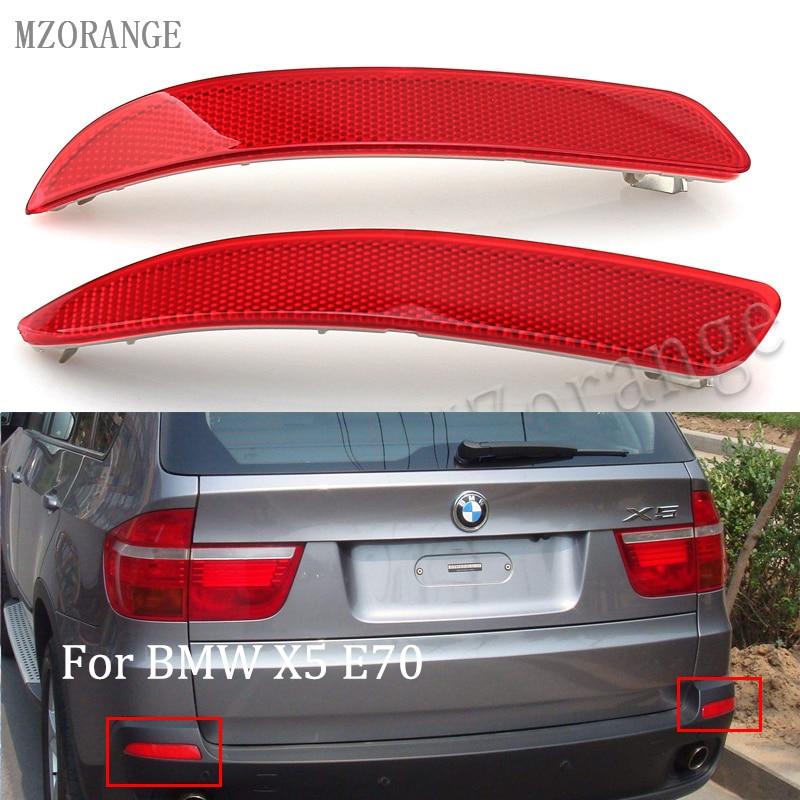 2X Red Lens Rear Bumper Reflector No Light Left /& Right For BMW X5 E70 2006-2013