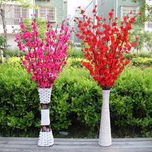 126 см/50 дюймов Длина искусственная ткань вишневый цвет шелковые цветы Свадебный букет цветов вечерние украшения для дома 5 цветов