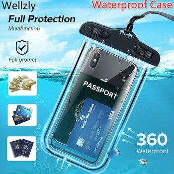 IP68 universel étanche étui de téléphone étanche sac étanche téléphone portable pochette PV couverture pour iPhone 11 Pro Xs Max XR X 8 7 Galaxy S10