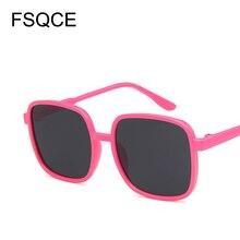 Flat Top Mirrored Sunglasses Kid Women Brand