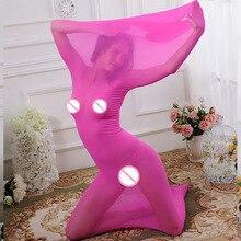 Stockings Sleeping Bag Sexy Bodysuit Transparent Ultrathin Flirt Fetish Erotic Toys For Couples Game