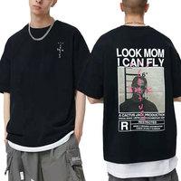 Cactus Jack T-shirt estate uomo donna LOOK MOM I CAN FLY Travis Scott Tees Hip Hop Style manica corta Harajuku Logo stampa Tshirt