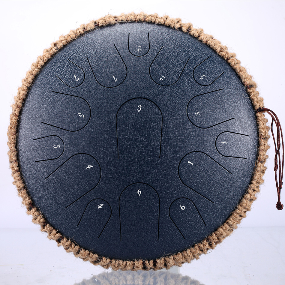 NEW Steel Tongue Drum 13 Inch 15 Tone  Drum Handheld Tank Drum Percussion Instrument Yoga Meditation Beginner Music Lovers Gift