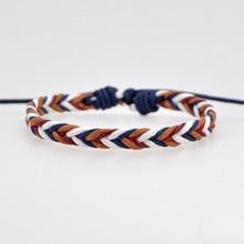 Ручной работы винтажный Канатный браслет с подвесками для женщин и мужчин коричневый Регулируемый браслет на веревке ювелирные изделия